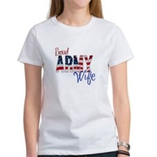 Proud Patriotic Army Wife T-Shirt