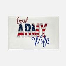 Proud Patriotic Army Wife Magnets