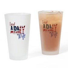 Proud Patriotic Army Wife Drinking Glass