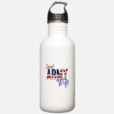 Proud Patriotic Army Wife Water Bottle