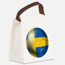Sweden Soccer Ball Canvas Lunch Bag