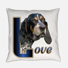 Love Bluetick Coonhound Everyday Pillow