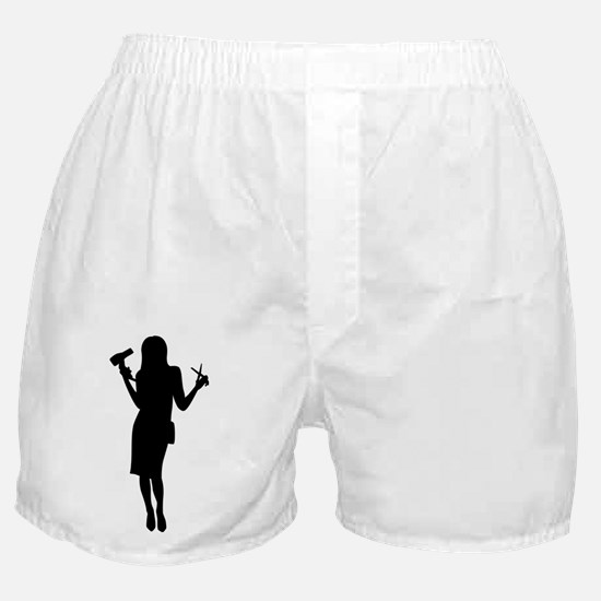 Hairdresser woman girl Boxer Shorts