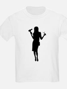 Hairdresser woman girl T-Shirt