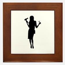 Hairdresser woman girl Framed Tile