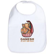 Ganesh Is My Om Boy Bib