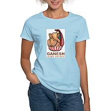 Ganesh Is My Om Boy Women's Pink T-Shirt