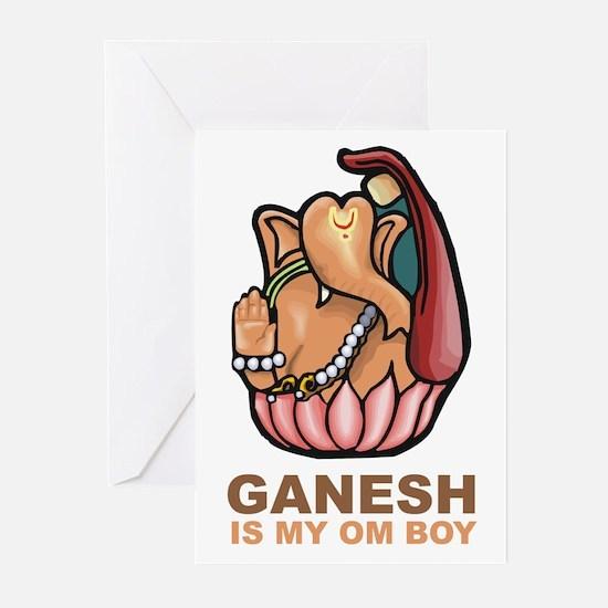 Ganesh Is My Om Boy Greeting Cards (Pk of 10)