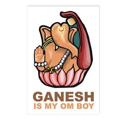 Ganesh Is My Om Boy Postcards (Package of 8)