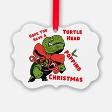 Turtle Head Popping Christmas Ornament