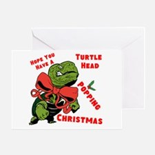 Turtle Head Popping Christmas Greeting Cards
