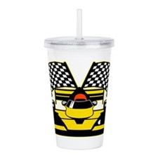 YELLOW RACECAR Acrylic Double-wall Tumbler