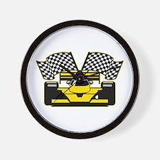 YELLOW RACECAR Wall Clock