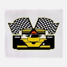 YELLOW RACECAR Throw Blanket