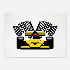 YELLOW RACECAR 5'x7'Area Rug