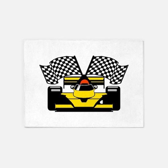 YELLOW RACECAR 5'x7'Area Rug