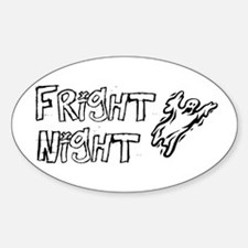 Fright Night Oval Decal
