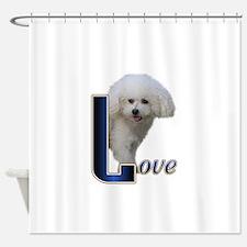 Love Bichon.png Shower Curtain