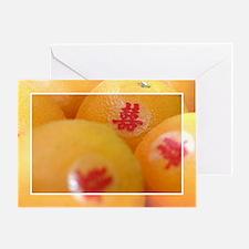 Wedding Oranges Greeting Card