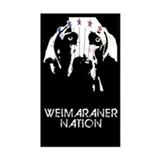 Weimaraner Nation Rectangle Decal
