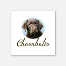 "Unique Pets chocolate lab Square Sticker 3"" x 3"""