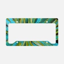 Tropical Lotus Delight License Plate Holder