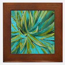 Tropical Lotus Delight Framed Tile