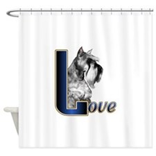 Miniature Schnauzer Love Shower Curtain