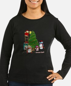 5 Owls Decorate a Tree Long Sleeve T-Shirt