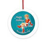 Anime style Mediaminer holiday Ornament (Round)