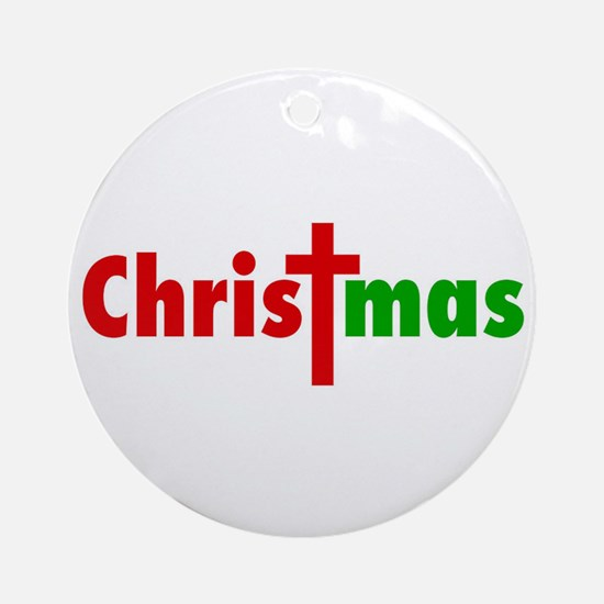 CHRISTmas Round Ornament
