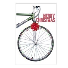 Bicycle Christmas Postcards (Package of 8)