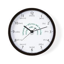 CSD Phonetic Wall Clock