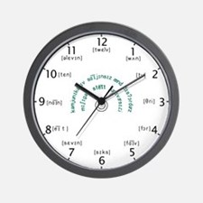 CSD Phonetic Wall Clock