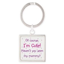 Cute Mommy Square Keychain