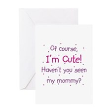 Cute Mommy Card Greeting Cards