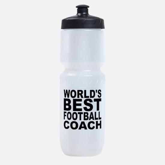 Worlds Best Football Coach Sports Bottle