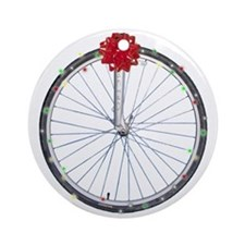 Bicycle Wreath Christmas Ornament