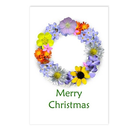 Wildflower Christmas Postcards (Package of 8)