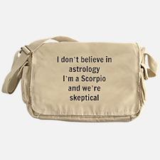 Scorpio skeptical astrology Messenger Bag