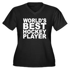 Worlds Best Hockey Player Plus Size T-Shirt