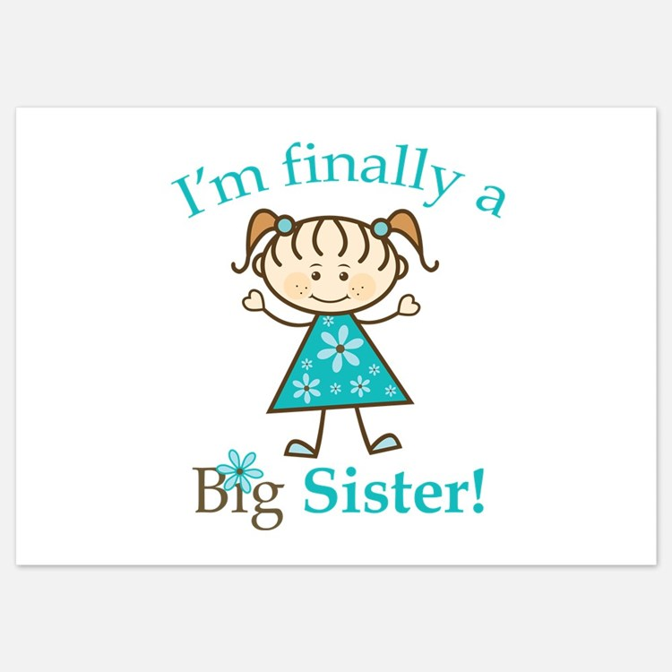 Big Sister Finally 5x7 Flat Cards
