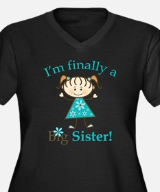 Big Sister F Women's Plus Size V-Neck Dark T-Shirt