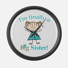 Big Sister Finally Large Wall Clock