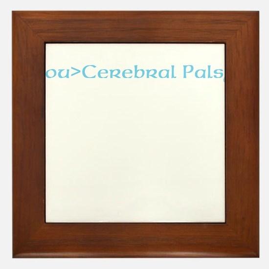 beat cerebral palsy Framed Tile