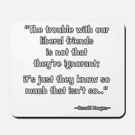 President Reagan Liberal Friends Mousepad