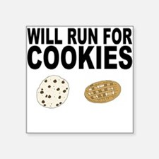 Will Run For Cookies Sticker