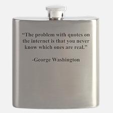 George Washington Internet Quote Flask