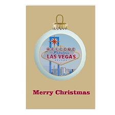 Las Vegas Christmas Ornament Postcards 8