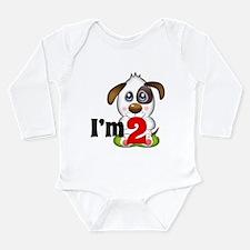 2nd Birthday Puppy Body Suit